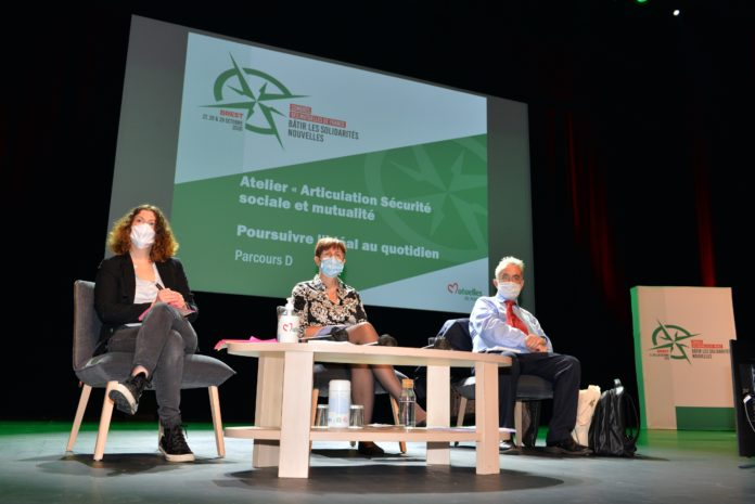 Pascale Vatel, secrétaire générale des mutuelles de France et Pierre-Yves Chanu, économiste